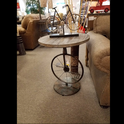 Unicycle Themed Accent Table - New