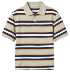 Brown Striped Polo