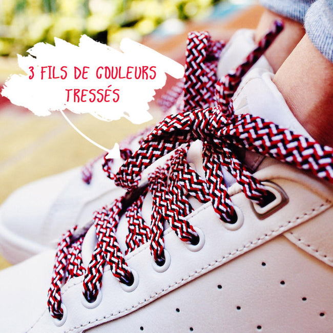 Lacets MARINS - ROUGE
