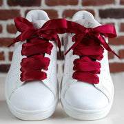 Lacets satin Bordeaux