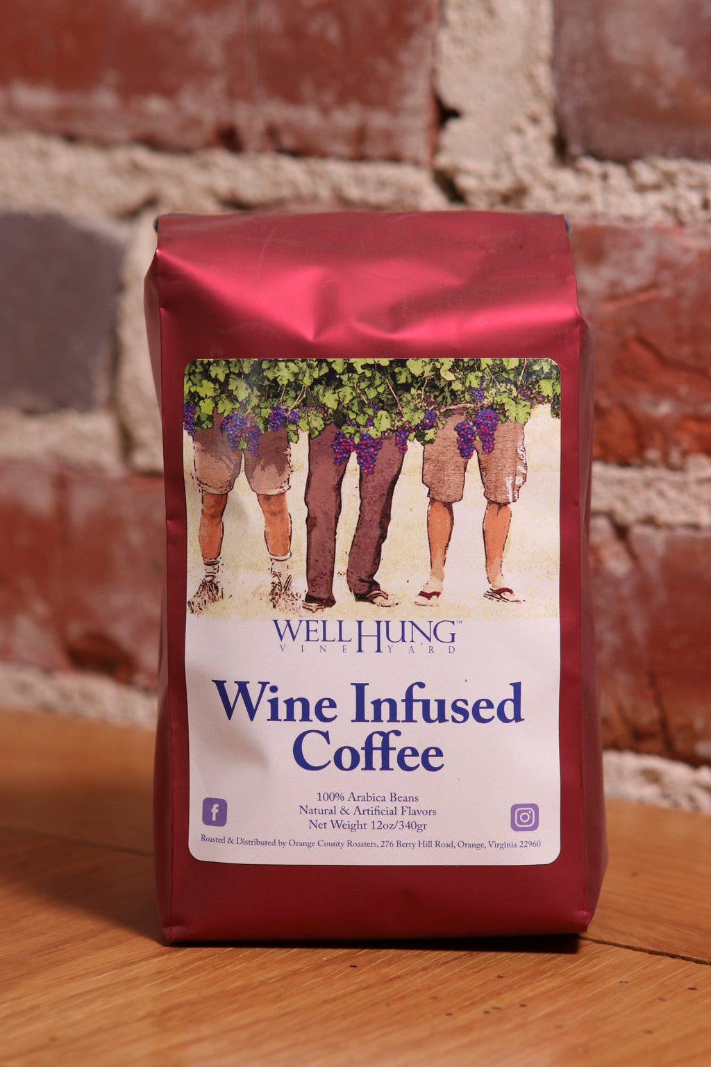 Well Hung Vineyard's Wine Infused coffee!