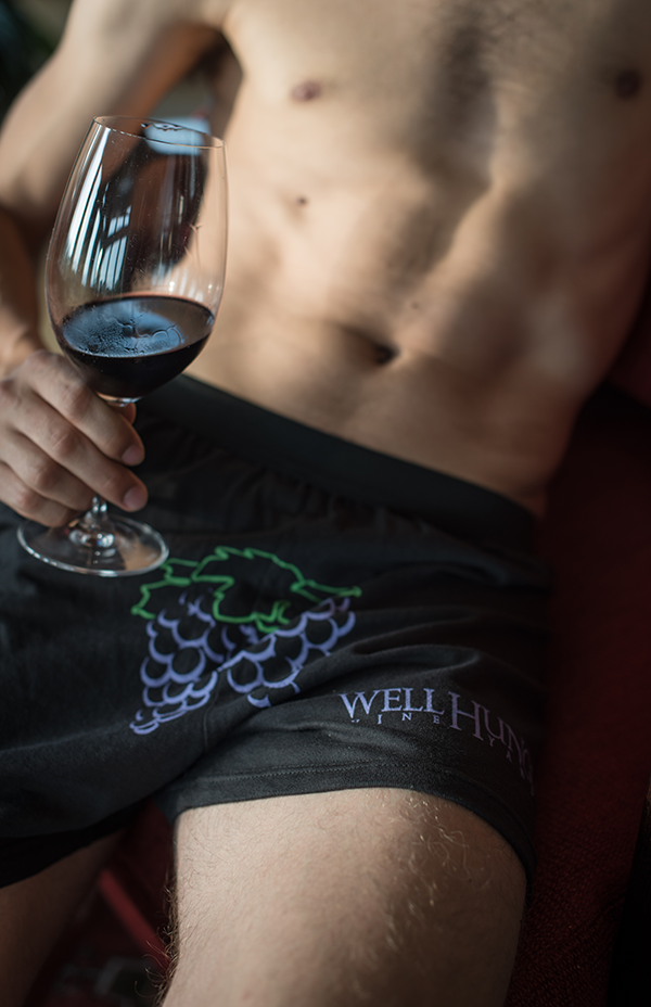 Well Hung Vineyard Black Boxer Shorts
