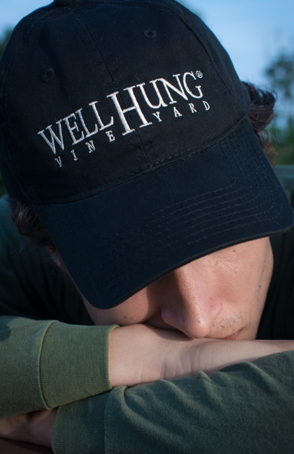 Well Hung Vineyard Black Hat Baseball Cap