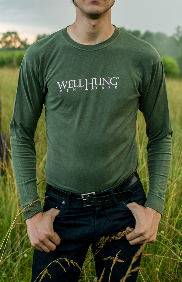 Well Hung Vineyard Green Long Sleeve T Shirt