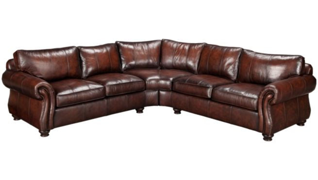 Bernhardt Van Gogh 2-Piece Leather Sectional  sc 1 st  CLINK Furniture : bernhardt van gogh leather sectional - Sectionals, Sofas & Couches