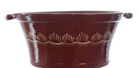 Extra large terracotta handmade serving bowl for food