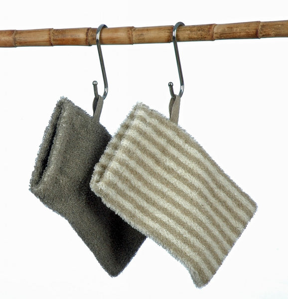2 Linen/Cotton Body Scrub Mitts