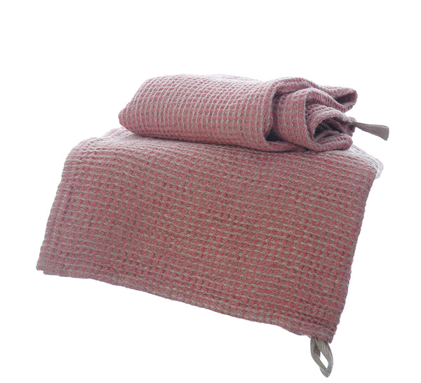 Super Soft Waffle Linen Guest Hand Towels with Hanging Loop 50x65cm