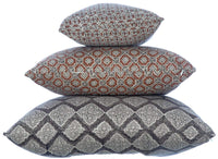 Potager Collection Cotton Cushion in Bronze Rings 30x50