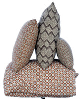 Potager Collection Cotton Cushion in Bronze Tessera 50x50