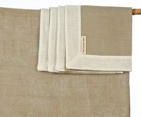 4 Natural Lithuanian Linen Napkins