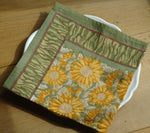 Hand Block Printed Provence Cotton Napkin by Mas d' Ousvan