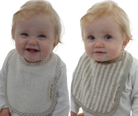 Baby Pure Linen Bibs 2 in a Pack