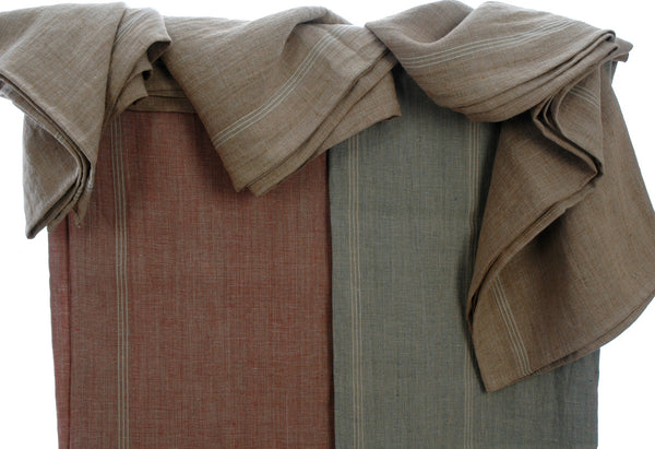 Exquisite Pure French Linen Tablecloths in Linen Gold