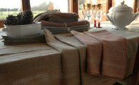 Biella Pure Linen Long Table Runners 50x145cm 3 Colour Choices