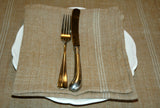 Golden linen napkins in 3 colours