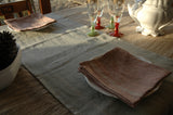 2 Pure French Linen Table Napkins 3 Colour Choices