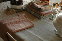Exquisite Pure Fench Linen Tablecloths in Mineral Green