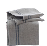 Large Pure Linen Tea Towels with Black Stripe Detail 72x50cm