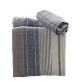 Pack of 3 linen Tea Towels in Blue & Grey Stripe 50x75cm