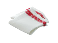 Set of 3 Large Linen/Cotton Union Tea Towels with Red Detail 75x50cm