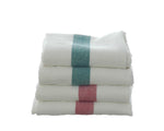 Pure linen tea towels with stripe detail