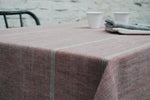 Exquisite Pure French Linen Tablecloths in Rouge in 4 sizes