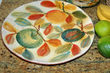 Handmade Fructus Dinner Plate  from Modigliani in Rome 10.5""