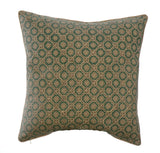 Potager Collection Cotton Cushion in Duck Egg Tessera 50x50