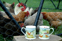 2 Bone China Hen Party Tankard Mugs by Royal Worcester
