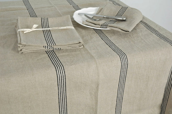 Natural French Linen tablecloth 280x150cm