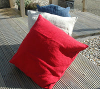 Extra Large Quality Heavyweight Pure Linen Cushion Covers