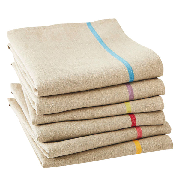 Pure Pre-Washed Linen Tea Towel from The Rainbow Collection