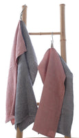 Super Soft Waffle Linen Guest Hand Towels with Hanging Loop 30x55cm
