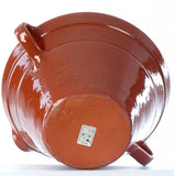 Hand Thrown Terracotta Extra Large Serving/Mixing Bowl with Pouring Lip and 2 Handles