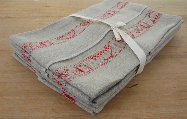 Top Quality French Breakfast Pure Linen Tea Towels