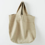 Strong pure linen travel bag in natural