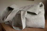 Extra Strong Travel Shoulder Bags in Heavy Weight Linen