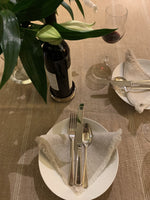 Linen gold tablecloth in 4 sizes