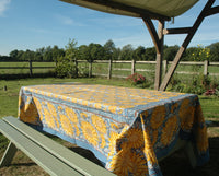 Provence Cotton Handmade Suflower Tablecloths by Mas d' Ousvan