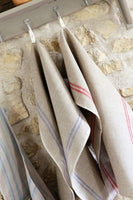 Heavyweight French Country Linen Tea Towels with Stripe Detail 72x50cm