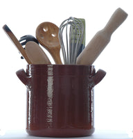 Portuguese  terracotta utensil holder with 2 handles