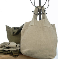 Pure French linen travel/shopping bag