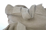Extra Strong Travel Shoulder Bags in Heavy Weight Linen in flax