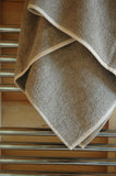 Terry Linen Medium Towel with Robust Useful Hanging Loop 45x90cm