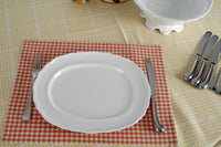 4 Durable Cotton Placemats in Cinnamon Check