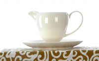 Ivory cream milk jug with stand