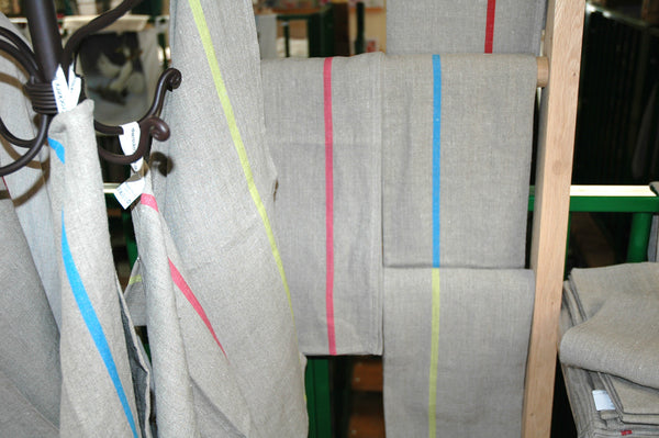 Pure Pre-Washed Linen Tea Towel from The Rainbow Collection in French Green