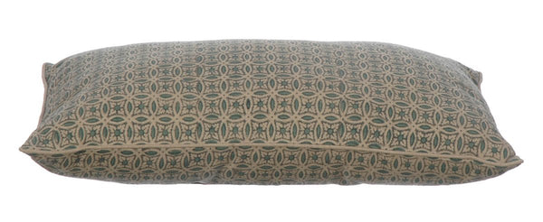 Sea green cotton cushion 30x50 with invisible zip