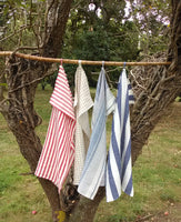 Mixed Collection of 4 Linen Tea Towels 75x50cm